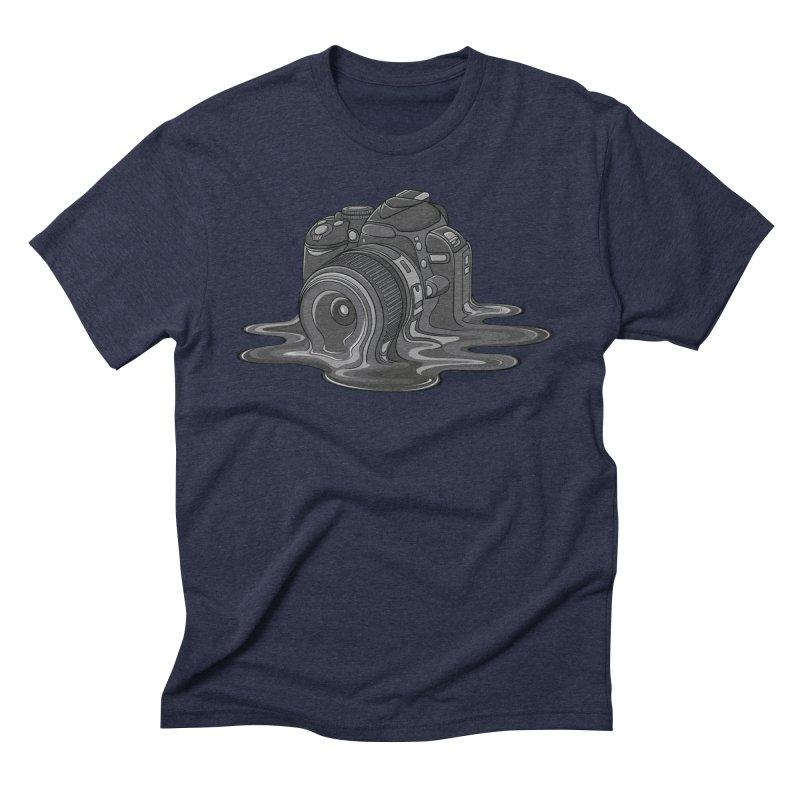 Camera Melt Men's Triblend T-Shirt by zomboy's Artist Shop