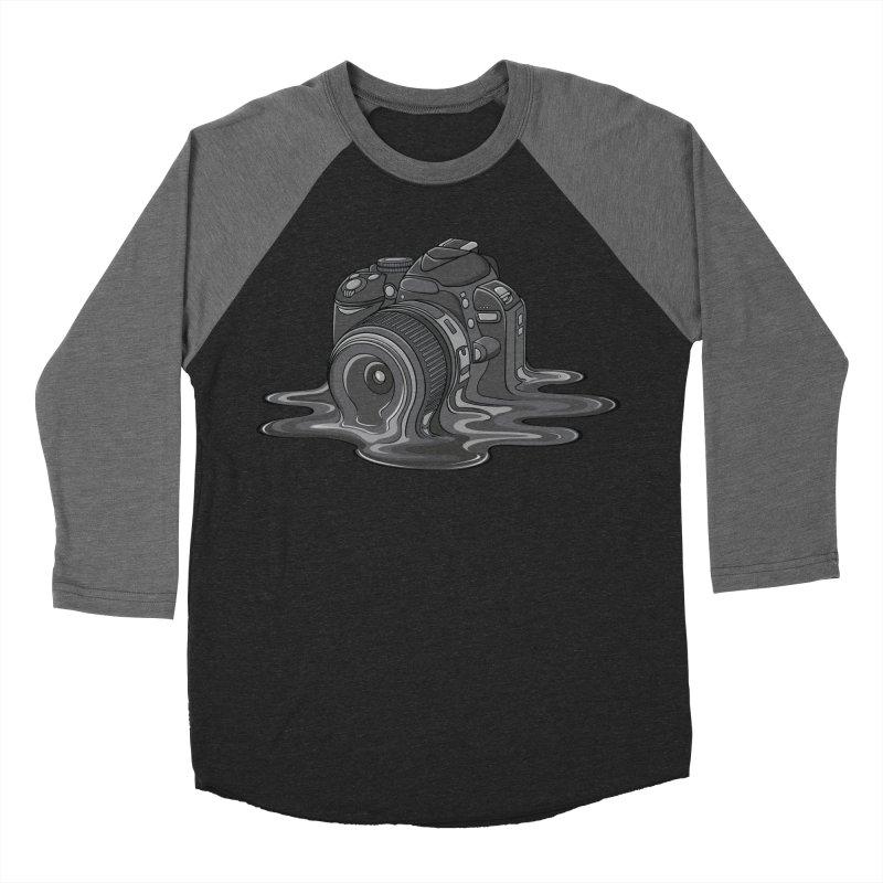 Camera Melt Men's Baseball Triblend Longsleeve T-Shirt by zomboy's Artist Shop
