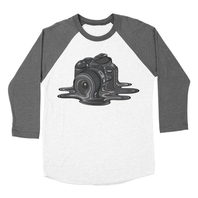 Camera Melt Men's Baseball Triblend T-Shirt by zomboy's Artist Shop