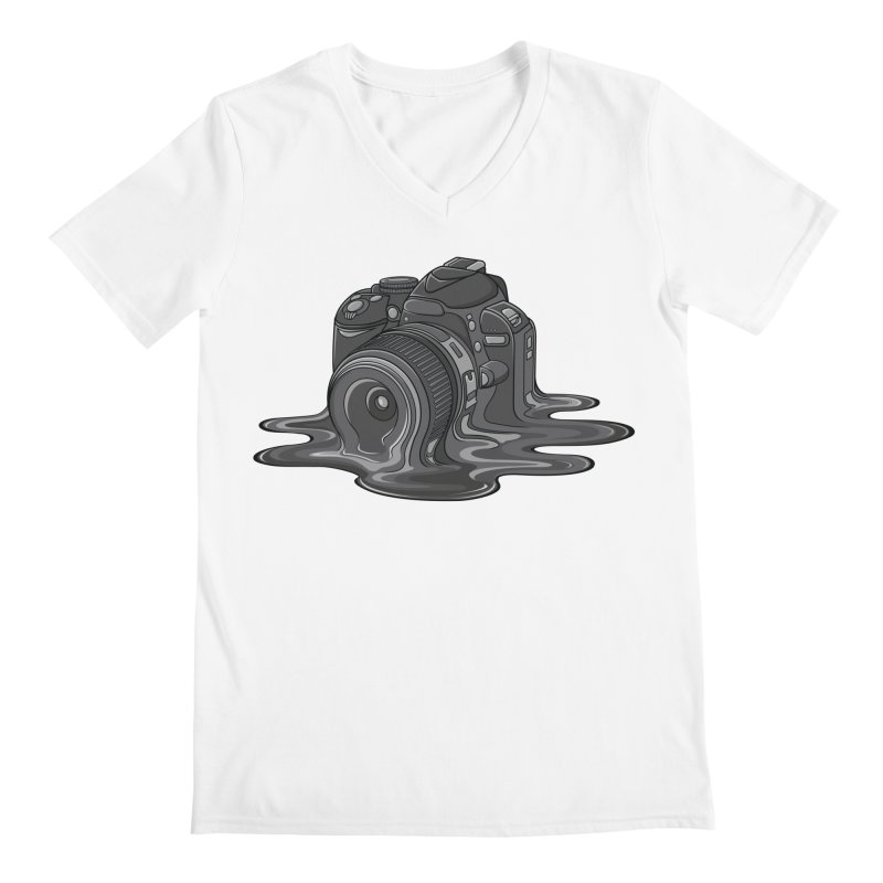 Camera Melt Men's Regular V-Neck by zomboy's Artist Shop
