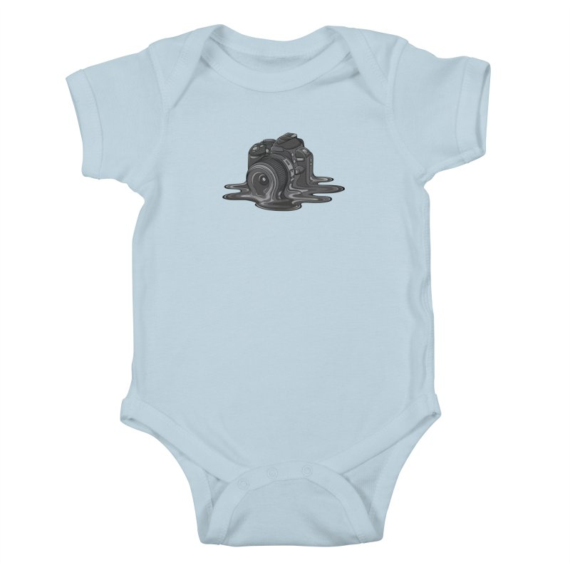 Camera Melt Kids Baby Bodysuit by zomboy's Artist Shop