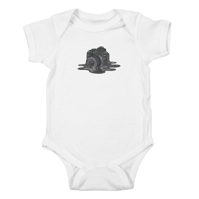 Camera Melt Kids Baby Bodysuit by zomboy's Artist Shop