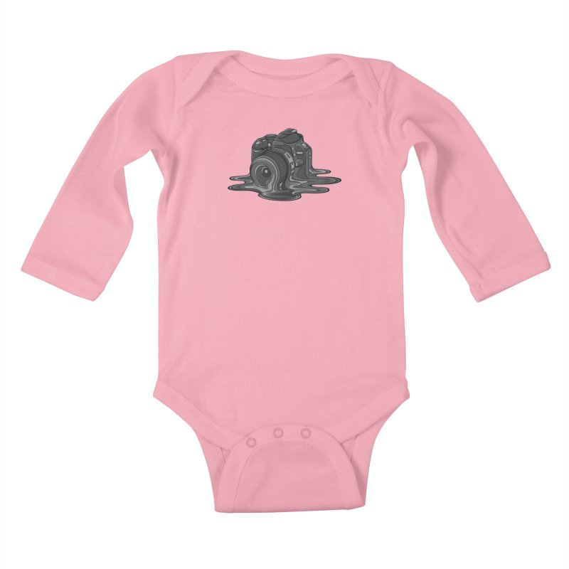 Camera Melt Kids Baby Longsleeve Bodysuit by zomboy's Artist Shop