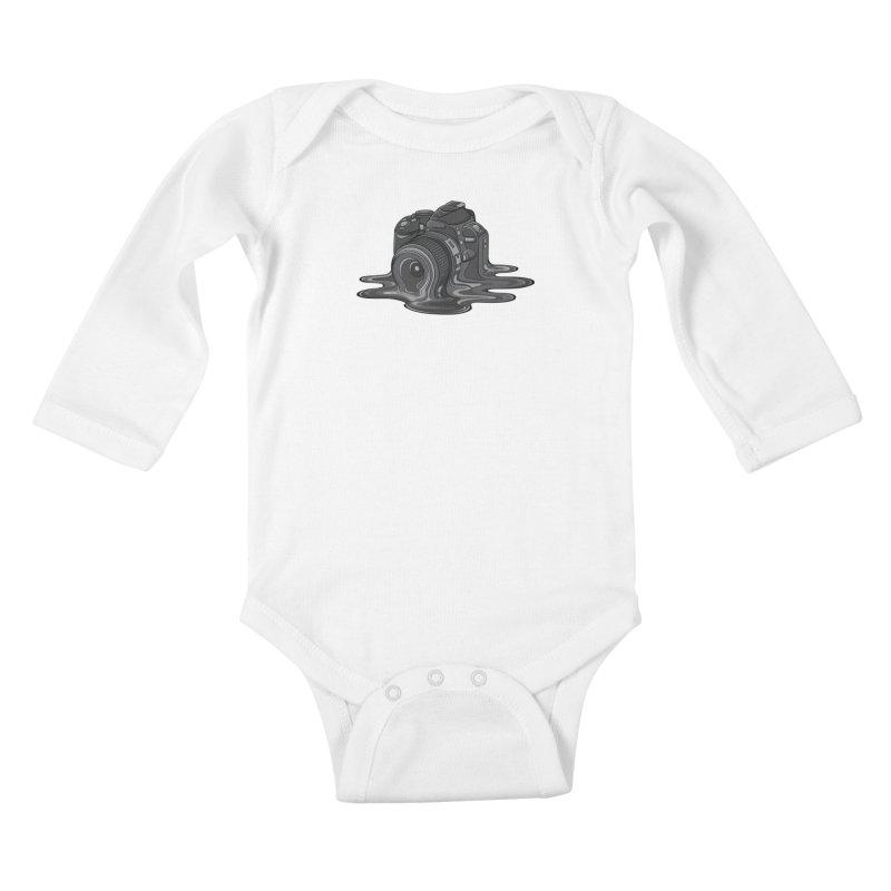Camera Melt Kids Baby Longsleeve Bodysuit by zomboy's Artist Shop