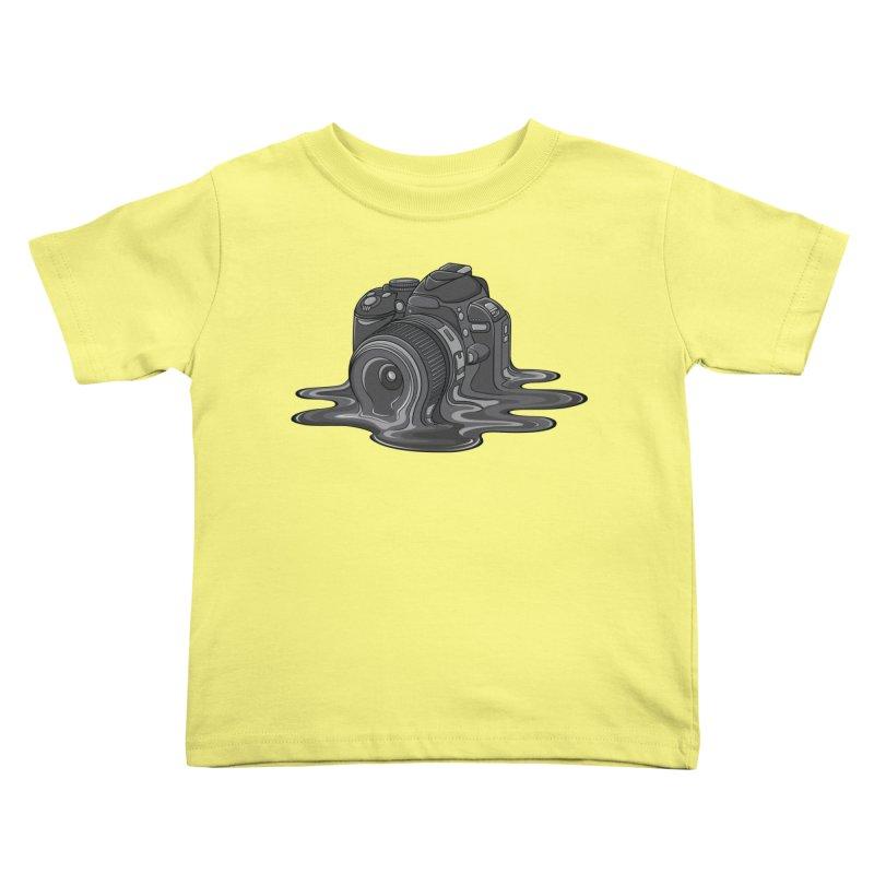 Camera Melt Kids Toddler T-Shirt by zomboy's Artist Shop