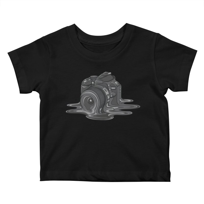 Camera Melt Kids Baby T-Shirt by zomboy's Artist Shop
