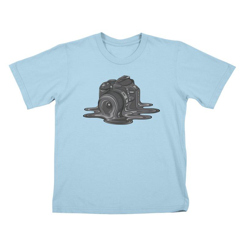 Camera Melt Kids T-Shirt by zomboy's Artist Shop