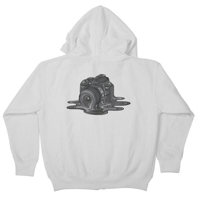 Camera Melt Kids Zip-Up Hoody by zomboy's Artist Shop
