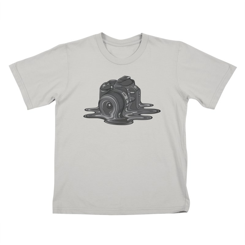 Camera Melt Kids T-Shirt by zomboy's Artist Shop
