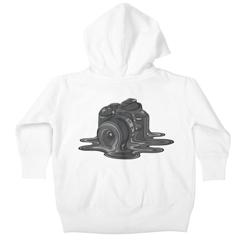 Camera Melt Kids Baby Zip-Up Hoody by zomboy's Artist Shop