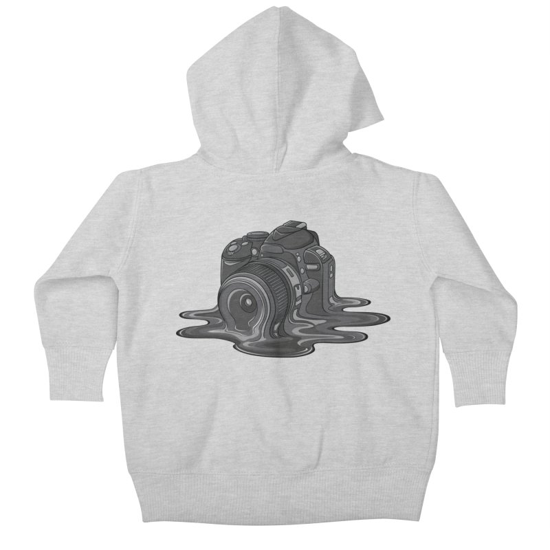 Camera Melt Kids Baby Zip-Up Hoody by zomboy's Artist Shop