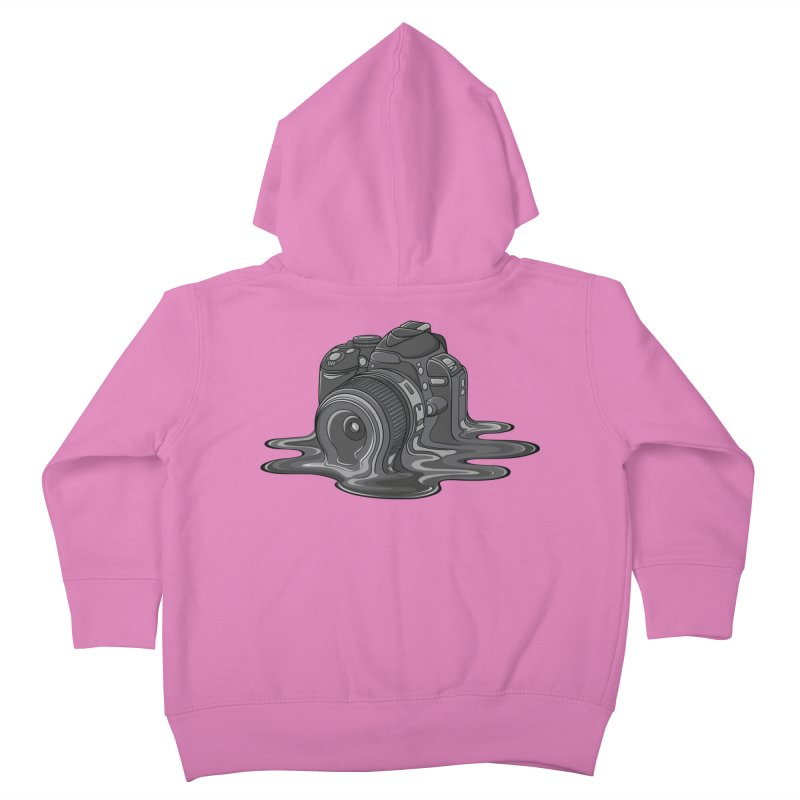 Camera Melt Kids Toddler Zip-Up Hoody by zomboy's Artist Shop