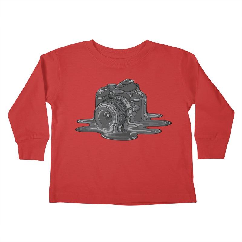 Camera Melt Kids Toddler Longsleeve T-Shirt by zomboy's Artist Shop
