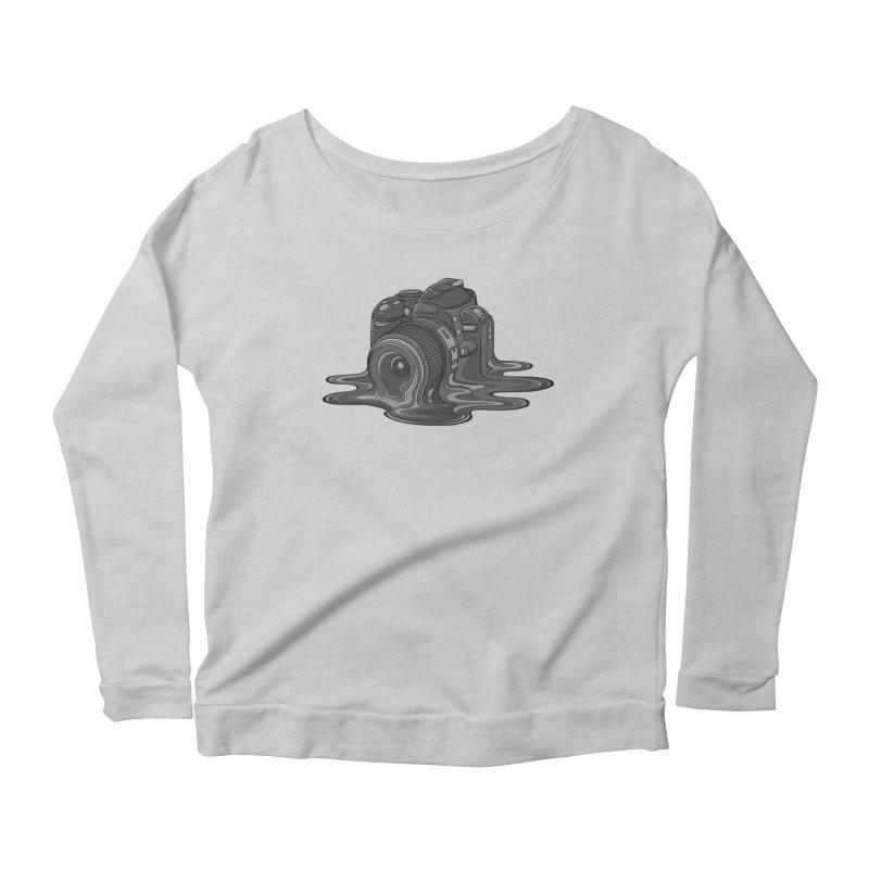 Camera Melt Women's Scoop Neck Longsleeve T-Shirt by zomboy's Artist Shop