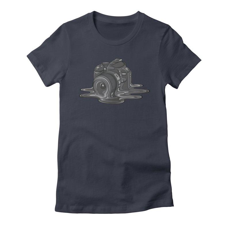 Camera Melt Women's Fitted T-Shirt by zomboy's Artist Shop
