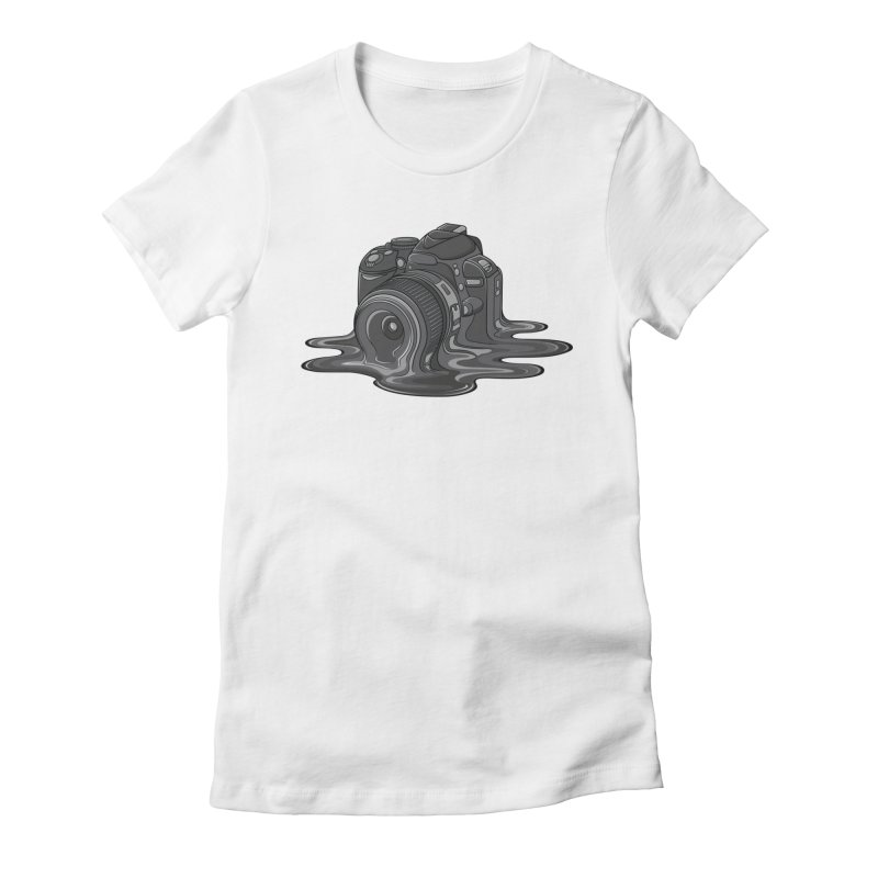 Camera Melt Women's Fitted T-Shirt by zomboy's Artist Shop