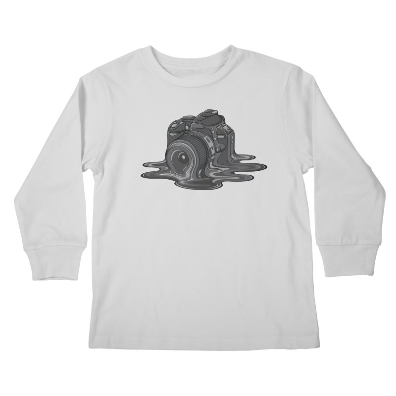 Camera Melt Kids Longsleeve T-Shirt by zomboy's Artist Shop