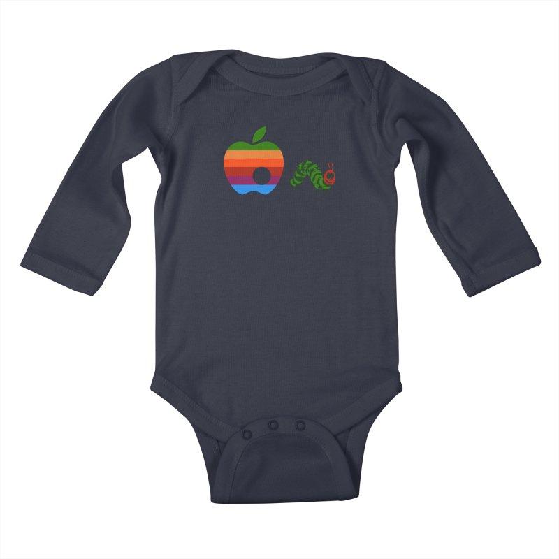 Very Hungry Kids Baby Longsleeve Bodysuit by zomboy's Artist Shop