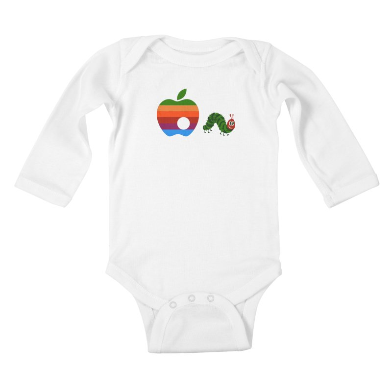 Very Hungry Kids Baby Longsleeve Bodysuit by zomboy's Artist Shop