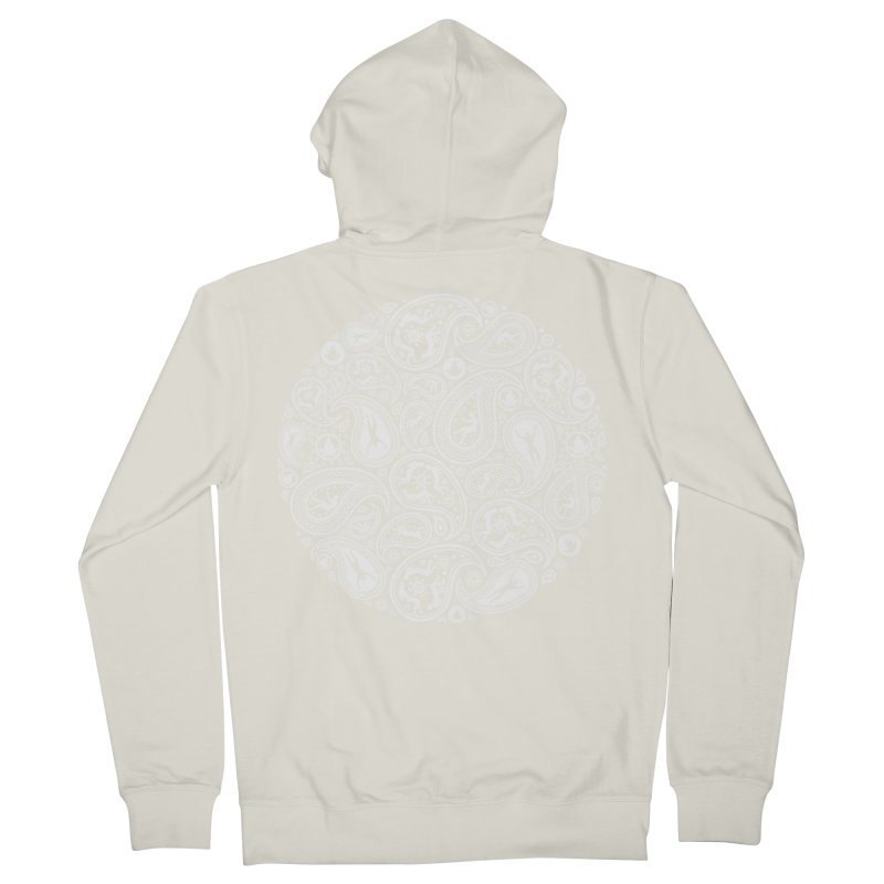 Human Paisley Women's French Terry Zip-Up Hoody by zomboy's Artist Shop