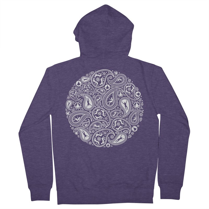 Human Paisley Men's French Terry Zip-Up Hoody by zomboy's Artist Shop