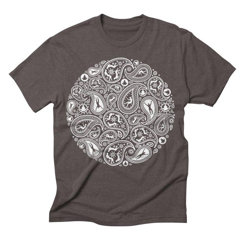 Human Paisley Men's Triblend T-shirt by zomboy's Artist Shop