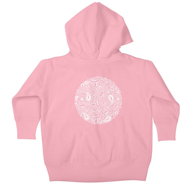Human Paisley Kids Baby Zip-Up Hoody by zomboy's Artist Shop