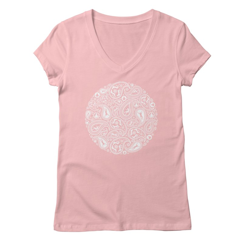 Human Paisley Women's Regular V-Neck by zomboy's Artist Shop