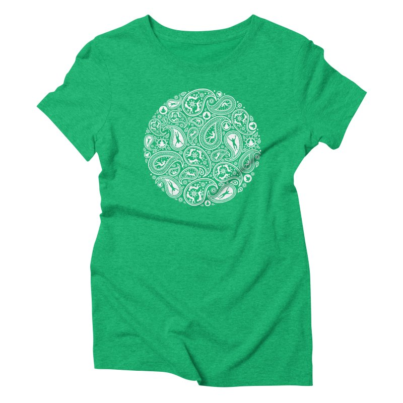 Human Paisley Women's Triblend T-Shirt by zomboy's Artist Shop