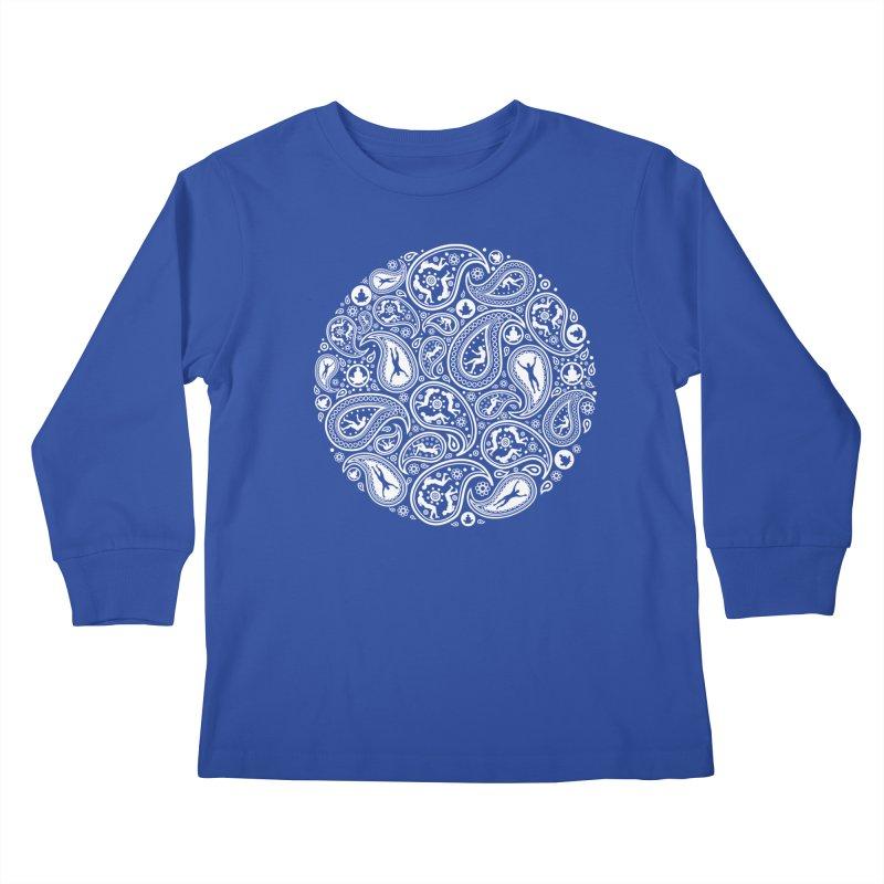 Human Paisley Kids Longsleeve T-Shirt by zomboy's Artist Shop