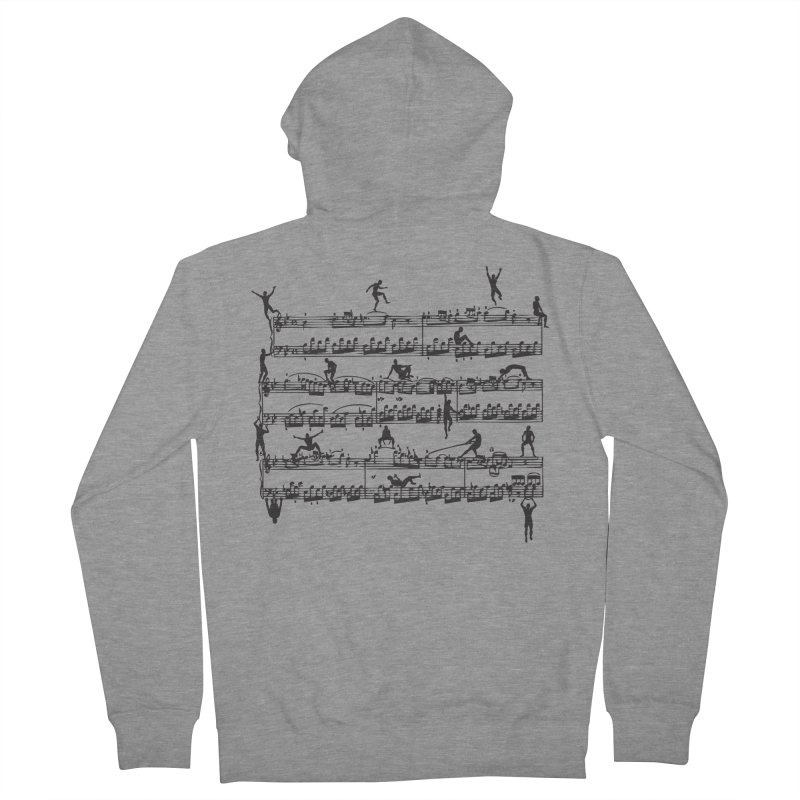 Mozart Men Men's French Terry Zip-Up Hoody by zomboy's Artist Shop