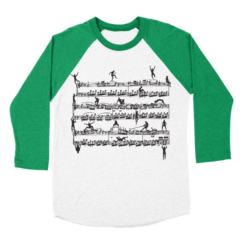 Mozart Men Women's Baseball Triblend Longsleeve T-Shirt by zomboy's Artist Shop