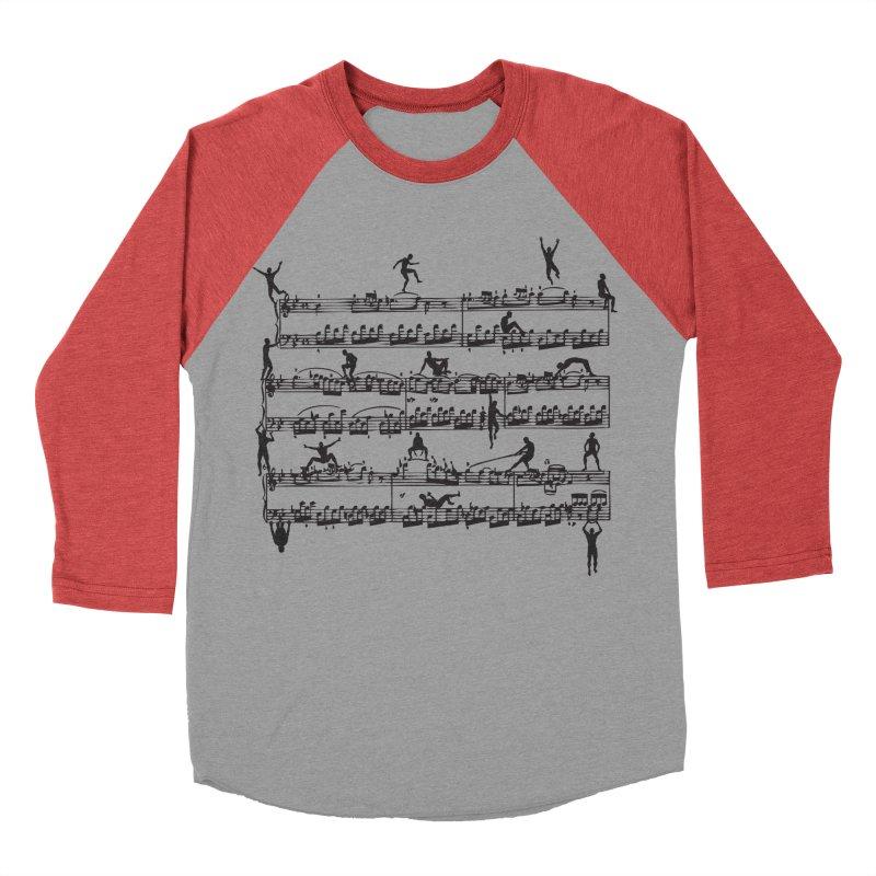 Mozart Men Men's Baseball Triblend T-Shirt by zomboy's Artist Shop