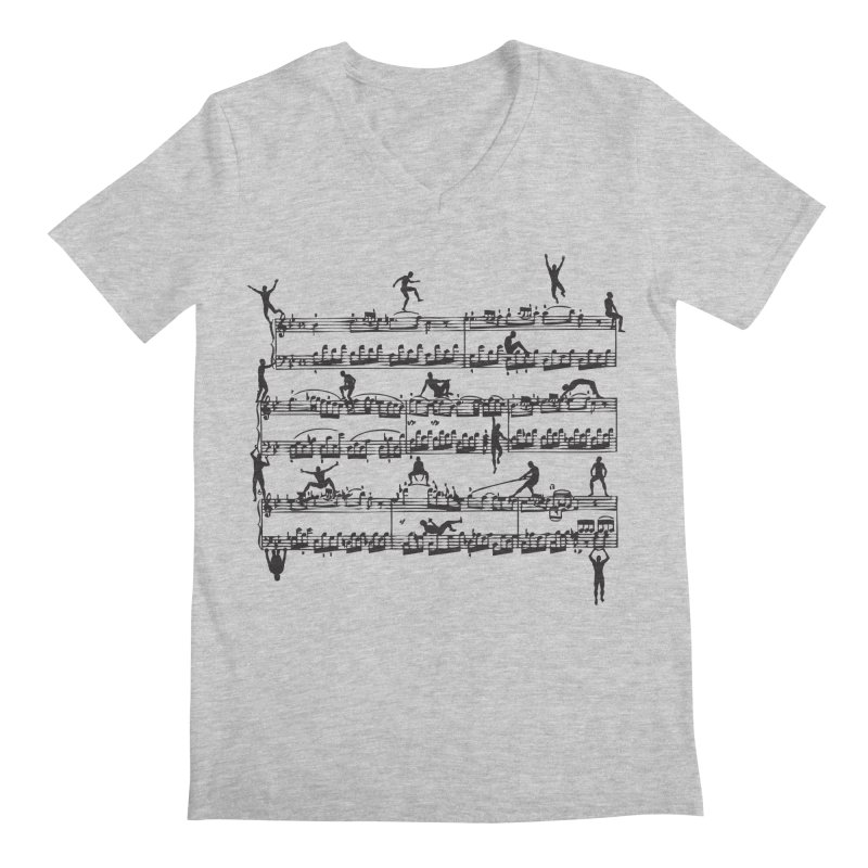 Mozart Men Men's Regular V-Neck by zomboy's Artist Shop