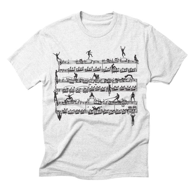 Mozart Men Men's Triblend T-shirt by zomboy's Artist Shop