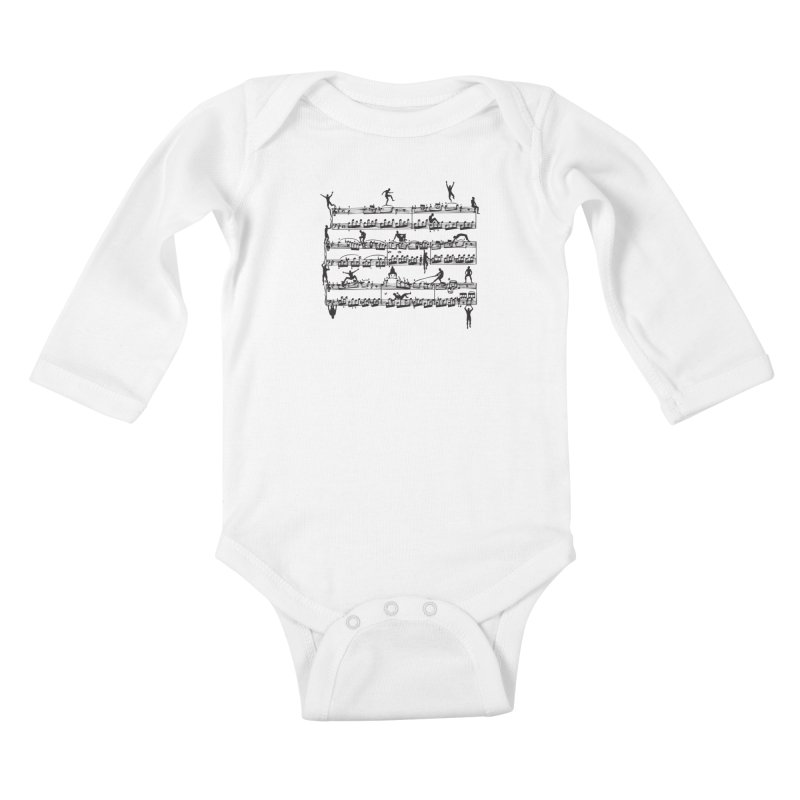 Mozart Men Kids Baby Longsleeve Bodysuit by zomboy's Artist Shop