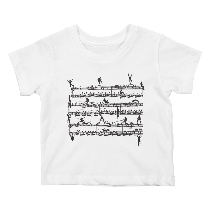 Mozart Men Kids Baby T-Shirt by zomboy's Artist Shop