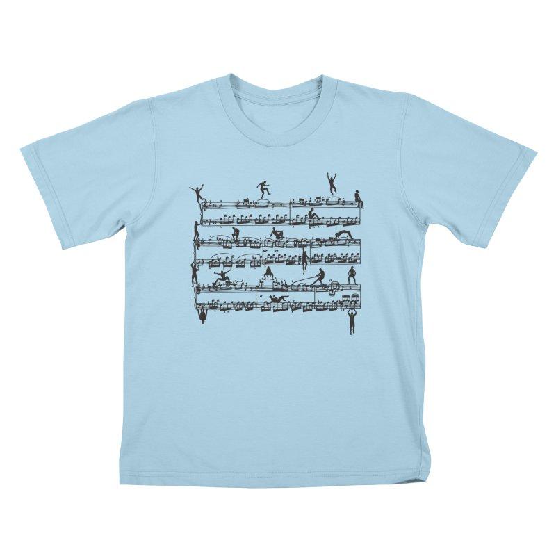 Mozart Men Kids T-Shirt by zomboy's Artist Shop