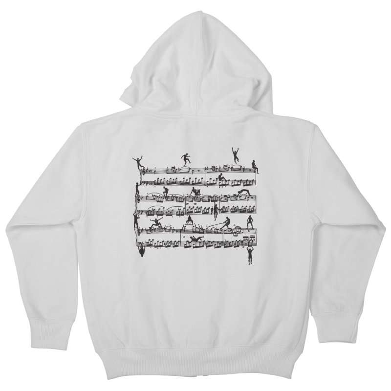 Mozart Men Kids Zip-Up Hoody by zomboy's Artist Shop