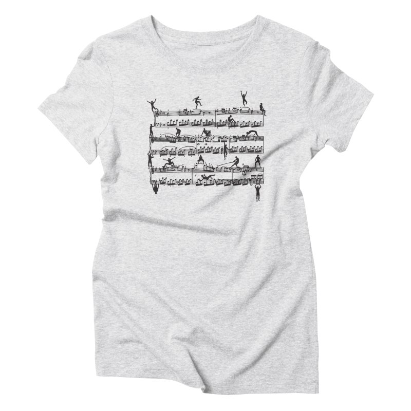 Mozart Men Women's Triblend T-Shirt by zomboy's Artist Shop
