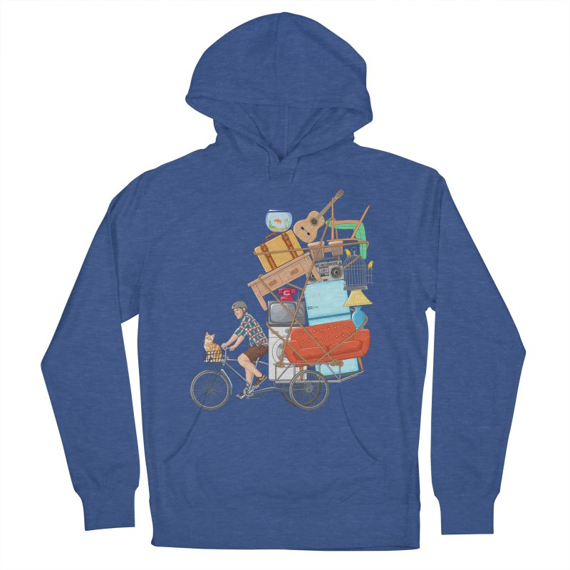 Life on the move Women's French Terry Pullover Hoody by zomboy's Artist Shop