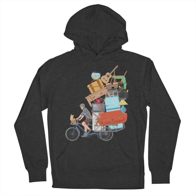 Life on the move Men's French Terry Pullover Hoody by zomboy's Artist Shop
