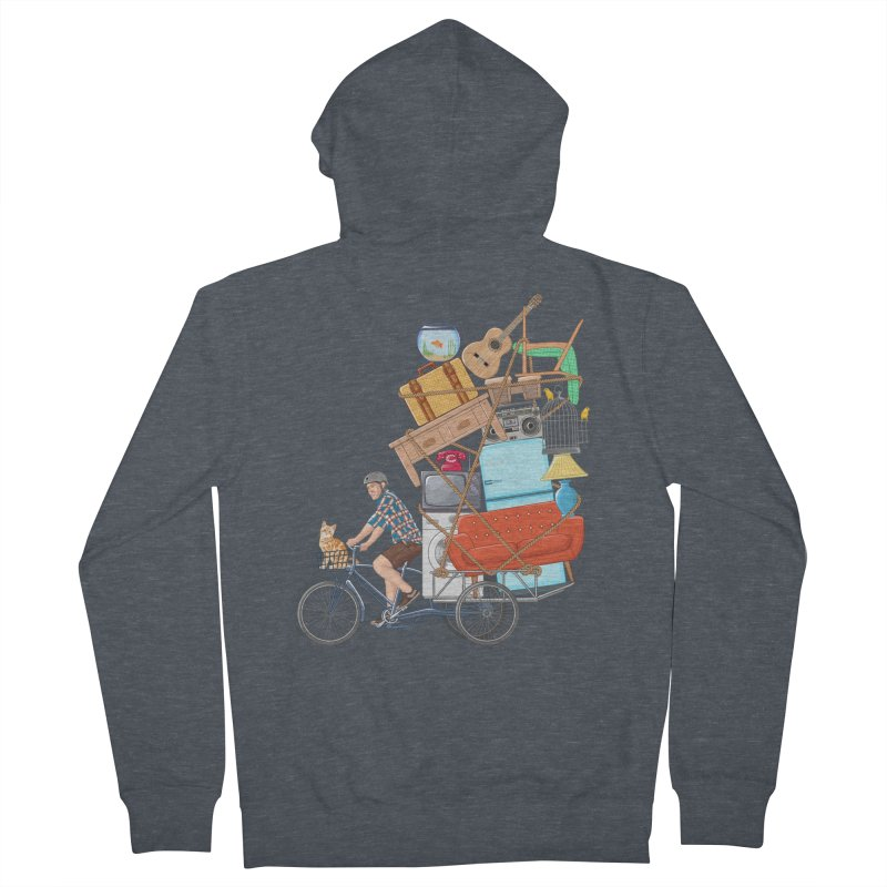 Life on the move Women's French Terry Zip-Up Hoody by zomboy's Artist Shop