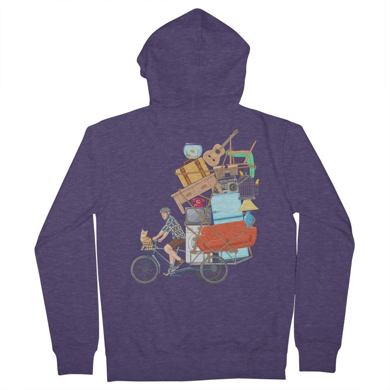 Life on the move Men's Zip-Up Hoody by zomboy's Artist Shop