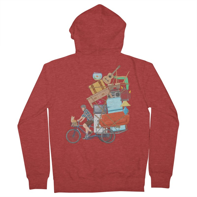 Life on the move Men's French Terry Zip-Up Hoody by zomboy's Artist Shop