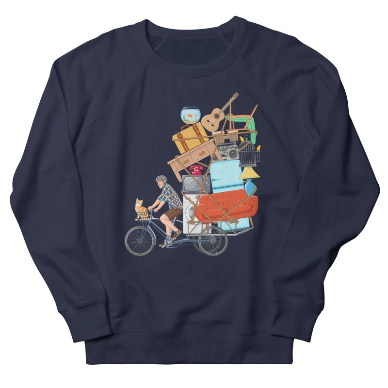 Life on the move Men's French Terry Sweatshirt by zomboy's Artist Shop