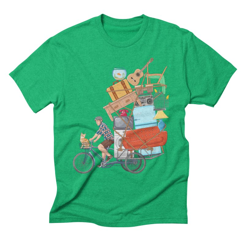 Life on the move Men's Triblend T-shirt by zomboy's Artist Shop