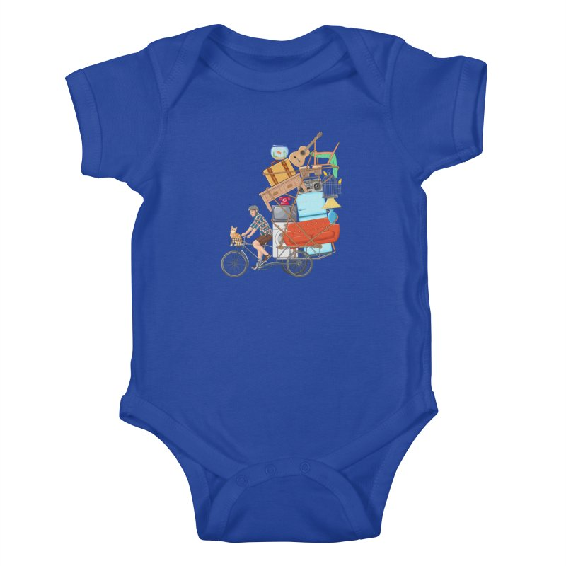Life on the move Kids Baby Bodysuit by zomboy's Artist Shop