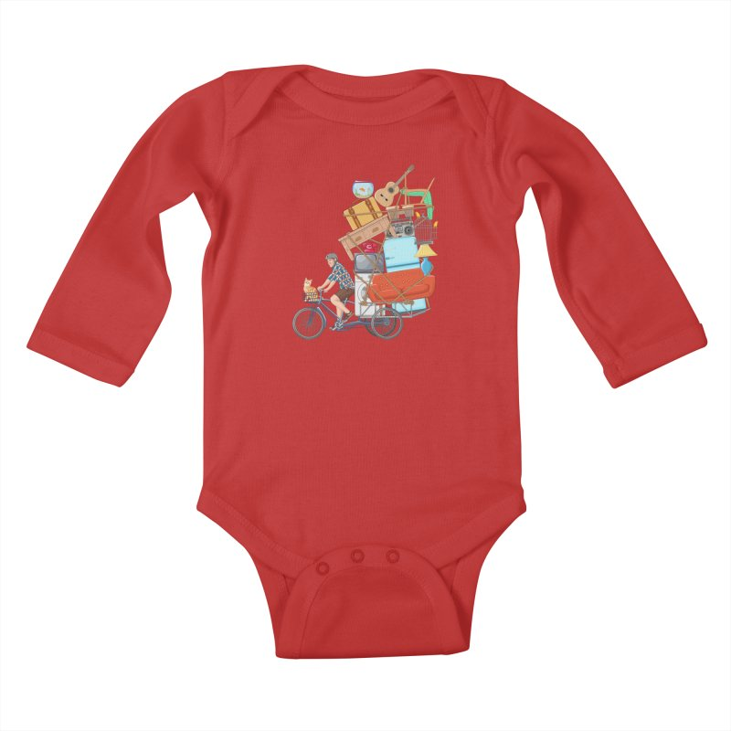 Life on the move Kids Baby Longsleeve Bodysuit by zomboy's Artist Shop