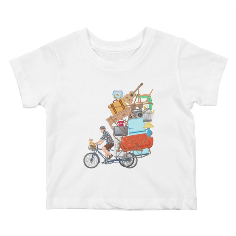 Life on the move Kids Baby T-Shirt by zomboy's Artist Shop